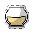 sweet honey pot isolated icon vector image