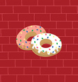 tasty delicious donuts vector image vector image
