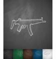 tommy-gun icon vector image vector image