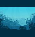 underwater seascape seafloor undersea vector image