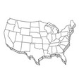 usa map sketch tourist united states america vector image vector image