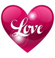 Valentine day background with word love and heart vector image