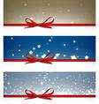 Winter festive backgrounds set vector image
