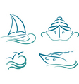 yachting symbols vector image vector image
