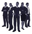 young dynamic business team vector image
