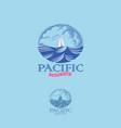 pacific yacht club logo vector image
