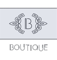 floral Boutique label Linear style frame vector image