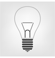 light bulb icon in the background vector image