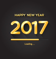 2017 loading progress bar-Happy New Year concept vector image vector image