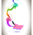 Abstract colorful background book icon and wave vector image