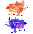 Abstract watercolor hand painted background in vector image vector image
