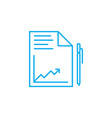 analytical report linear icon concept analytical vector image