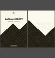 annual report cover design with gold geometric pat vector image
