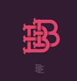 b b monogram vector image vector image