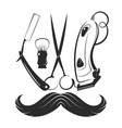 barbershop tool symbol vector image vector image