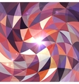 Bright abstract triangles grid background vector image vector image