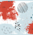 bright painted texture freehand graphic vector image vector image
