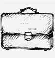 Business bag vector image vector image