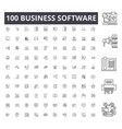 business software line icons signs set vector image vector image