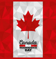 canadian flag celebration day vector image vector image