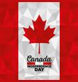 canadian flag celebration day vector image vector image