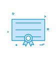 card ribbon icon design vector image vector image