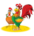 Cartoon rooster design vector image vector image