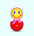 children s smiley roly-poly vector image vector image