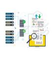 cloud computing big data analysis and data mining vector image vector image