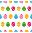 colorful cartoon style easter eggs pattern vector image vector image