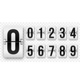 countdown numbers flip counter isolated 0 to 9 vector image vector image