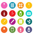 different drugs icons many colors set vector image