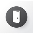 door icon symbol premium quality isolated vector image