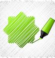 Drawing green seven-star vector image
