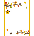 Fall Invitation Card vector image vector image