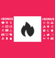 fire flame - halftone logo vector image