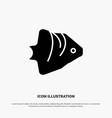 fish coral ocean schooling banner solid glyph icon vector image