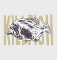 fish vintage art vector image vector image