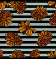 floral seamless pattern with stripes vector image vector image