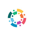 group eight people color colorful 8 team vector image
