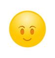 happy yellow smile emotion reaction symbol icon vector image vector image