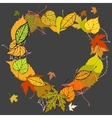 Heart shaped wreath made of autumn leaves vector image vector image