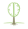human brain tree symbol vector image vector image