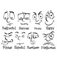 human face with different emotion vector image vector image