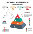 Infographics elements Pyramid solid chart 3D vector image vector image
