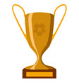 isolated soccer trophy icon vector image