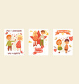 kids children girl boy characters in first vector image vector image