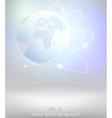 light earth globe vector image vector image