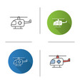 medical helicopter icon vector image vector image