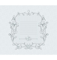 Mistletoe Decorative Frame vector image vector image